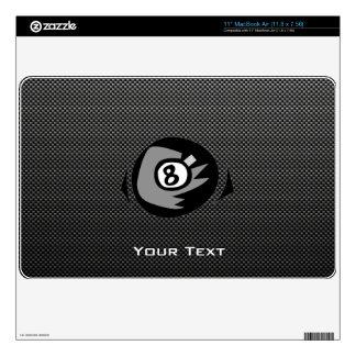"""8 ball; Faux Carbon Fiber 11"""" MacBook Air Decal"""