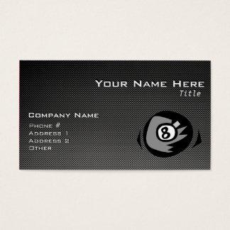 8 ball; Faux Carbon Fiber Business Card