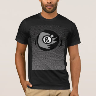 8 ball; Faux Carbon Fiber T-Shirt