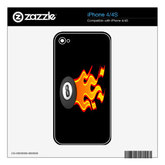 8 Ball Fire Skin For The iPhone 4