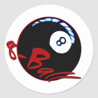 8-ball gifts & greetings classic round sticker