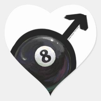 8 Ball Heart Sticker