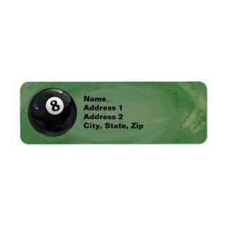 8 Ball Return Address Label
