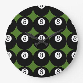 8 Ball Large Clock