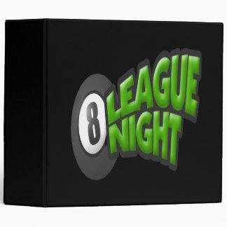 8 Ball League Night 3 Ring Binder