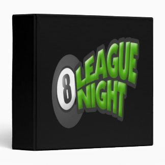 8 Ball League Night Binder