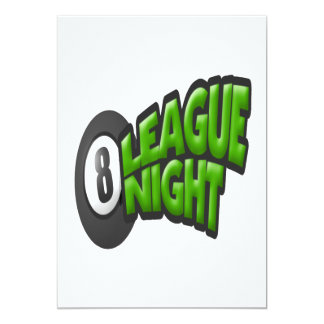 8 Ball League Night Card