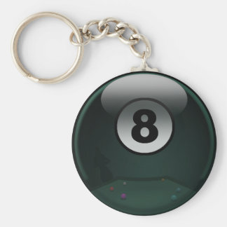 8-Ball Llavero Redondo Tipo Pin