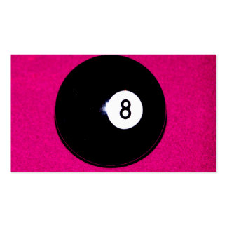 8 Ball on Pink Business Card