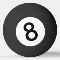 8 Ball or Black Ball for Ping Pong
