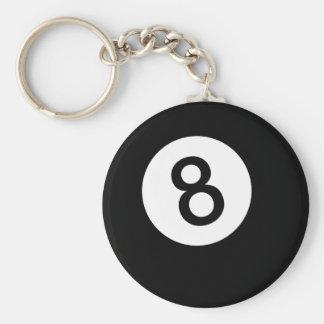 8 Ball or Black Ball Keychain