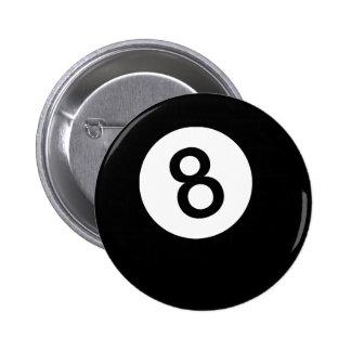 8 Ball or Black Ball Pinback Button