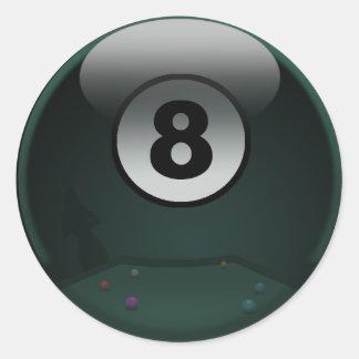 8-Ball Etiqueta Redonda