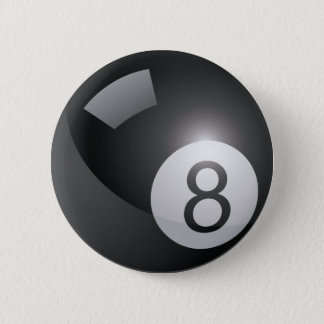 8 Ball Pinback Button