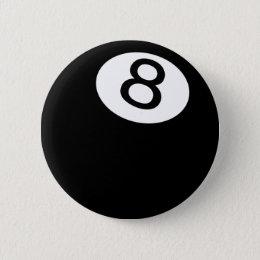 8 Ball Pinback Button
