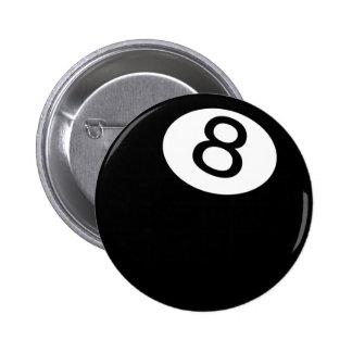 8 Ball Pinback Buttons