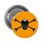 8-ball Pirate Pinback Buttons