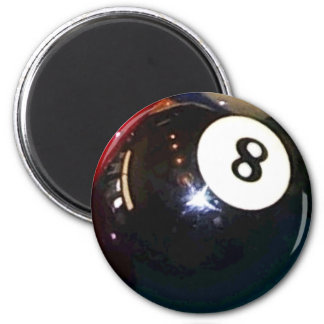 8-Ball Pool Ball 2 Inch Round Magnet