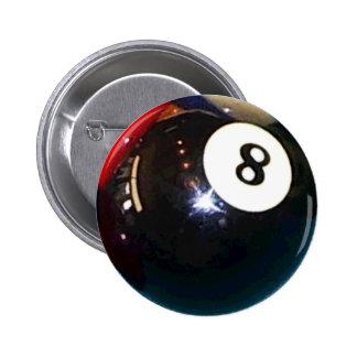 8-Ball Pool Ball Badge Pin Button