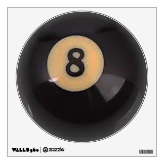 """8 Ball"" pool ball design gifts and products Wall Decal"