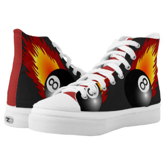 8 Ball Pool High-Top Sneakers