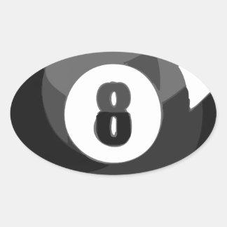 8 Ball Pool Oval Sticker