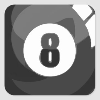 8 Ball Pool Square Sticker