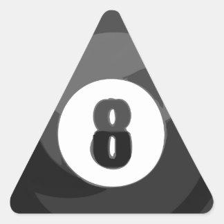 8 Ball Pool Triangle Sticker