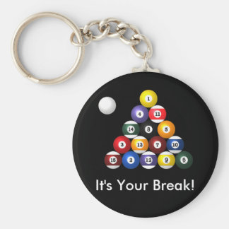 8-ball rack keychain