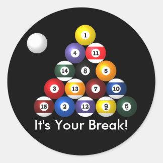 8-ball rack stickers