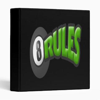 8 Ball Rules 3 Ring Binder