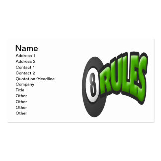 8 Ball Rules Business Card
