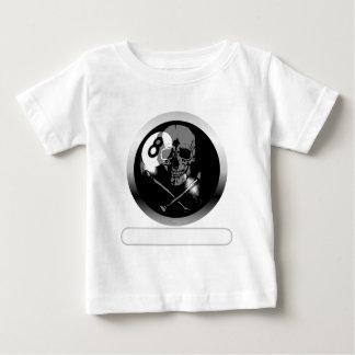 8 Ball Skull and Crossbones Baby T-Shirt
