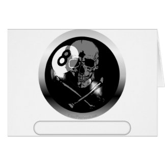 8 Ball Skull and Crossbones Card