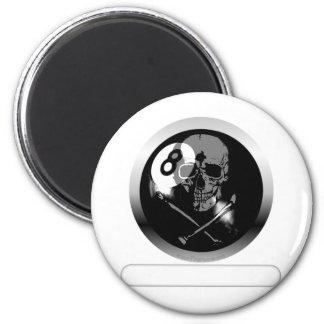8 Ball Skull and Crossbones Refrigerator Magnets