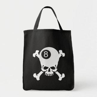 8 ball skull canvas bags