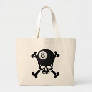 8 ball skull tote bags