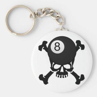 8 ball skull keychain