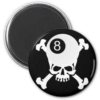8 ball skull magnet