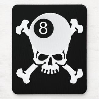 8 ball skull mouse pad