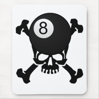 8 ball skull mouse pad