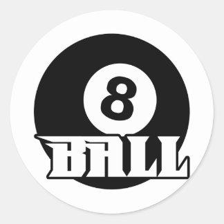 8 Ball Round Stickers