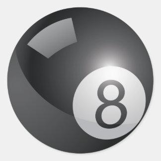 8 Ball Round Sticker