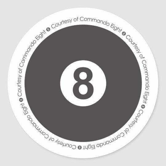 8 Ball Sticker for Com 8