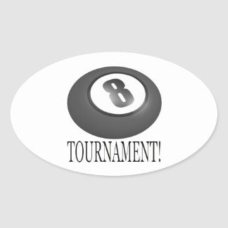 8 Ball Tournament 2 Oval Sticker