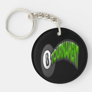8 Ball Tournament Keychain