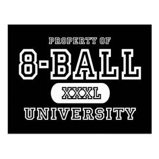 8-Ball Univeristy Dark Postcard