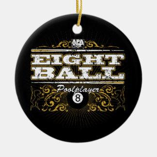 8 Ball Vintage Design Ceramic Ornament