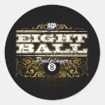 8 Ball Vintage Design Classic Round Sticker
