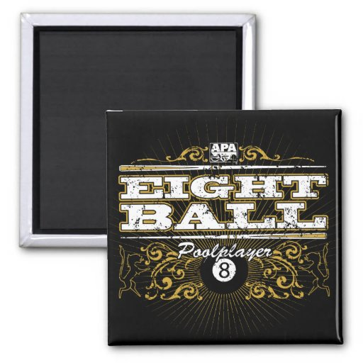 8 Ball Vintage Design Fridge Magnet